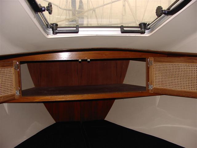 V-berth cabinet doors open.JPG